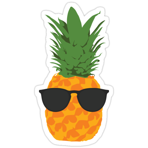 cool pineapple with sunglasses stickers by simplecomplex redbubble. Black Bedroom Furniture Sets. Home Design Ideas