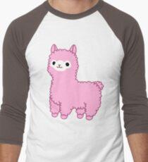 Pink Alpaca Men's Baseball ¾ T-Shirt
