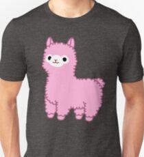 Rosa Alpaka Slim Fit T-Shirt