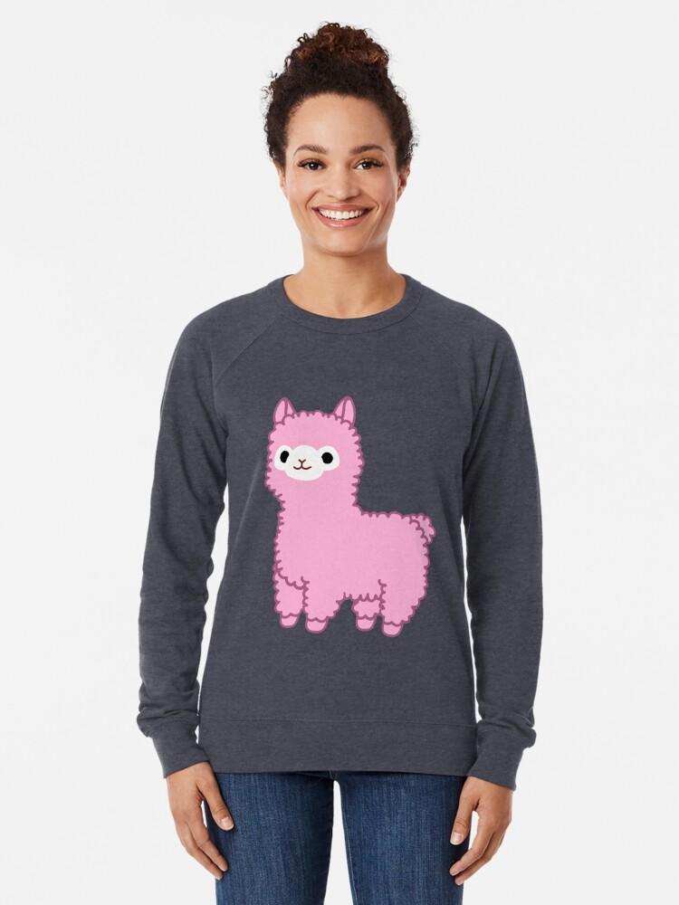Alternative Ansicht von Rosa Alpaka Leichter Pullover