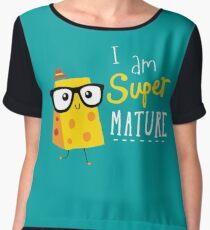 Super Mature Women's Chiffon Top