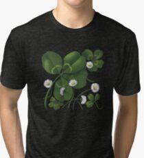 Cloverleaf - acrylic painting Tri-blend T-Shirt