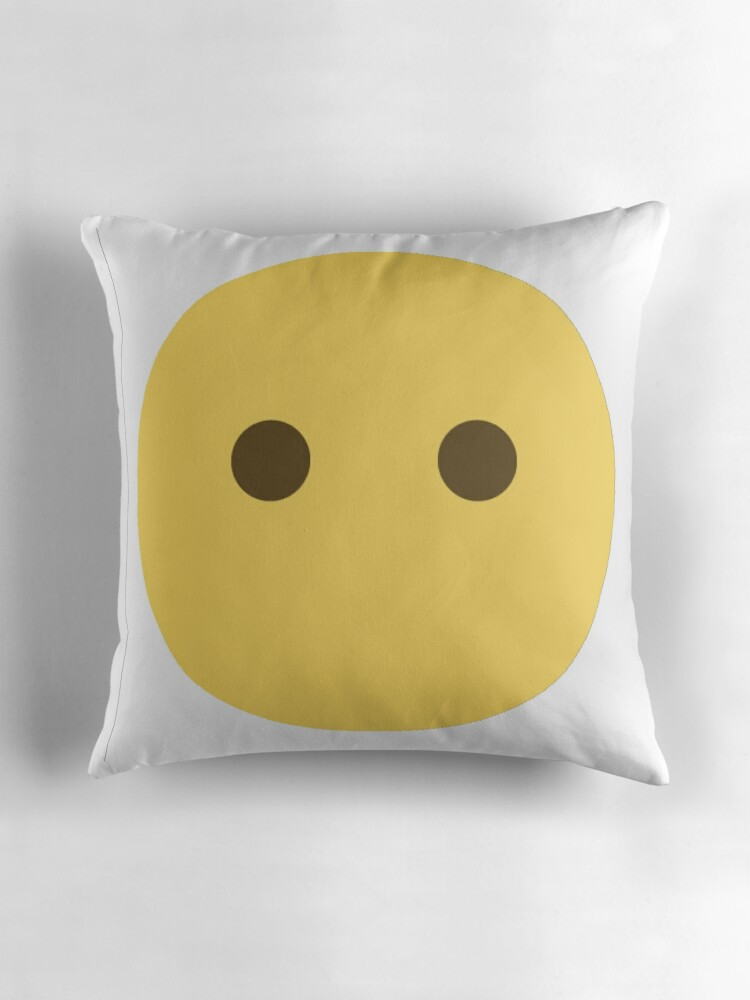 Quot No Mouth Emoji Eyes Only Quot Throw Pillows By