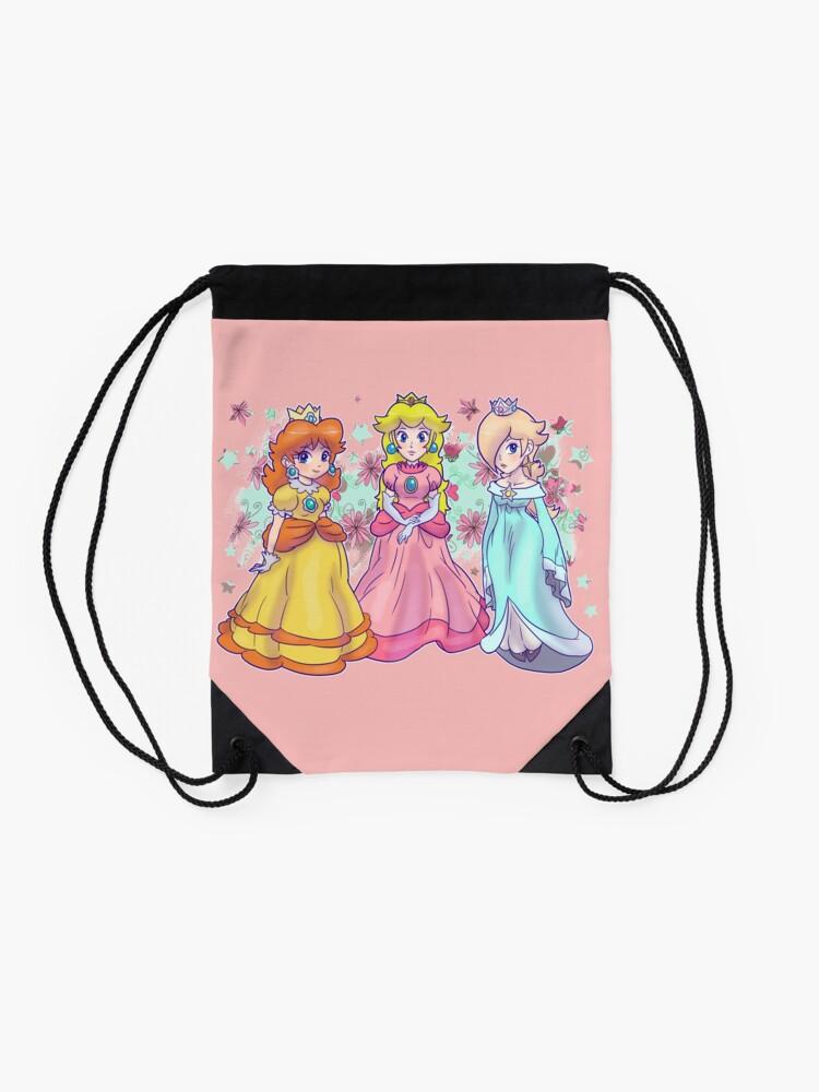 Alternative Ansicht von Prinzessin Peach, Daisy und Rosalina Rucksackbeutel