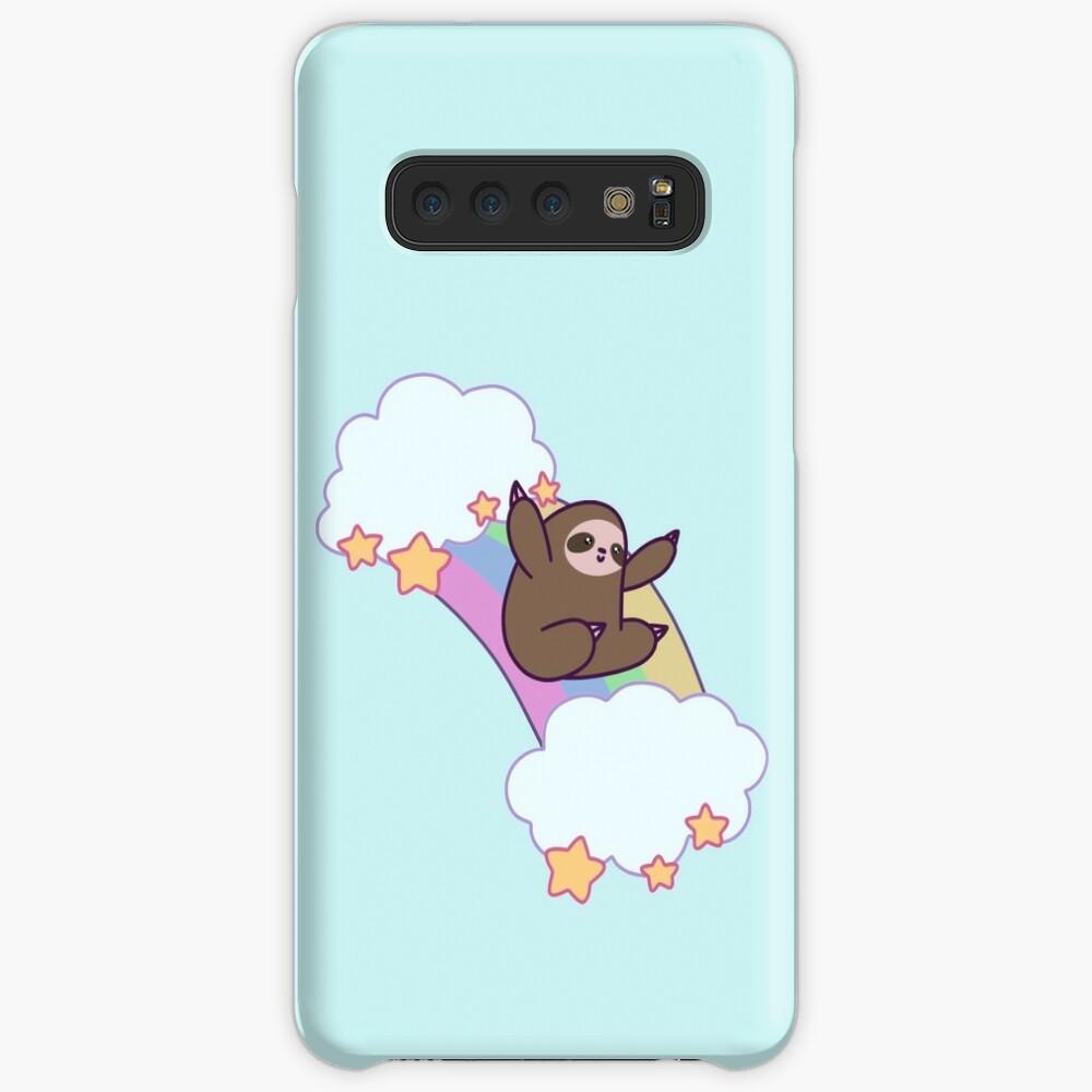 Rainbow Cloud Sloth Case & Skin for Samsung Galaxy