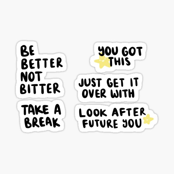 Positivity/Motivation Sticker Sheet - Typography Sticker
