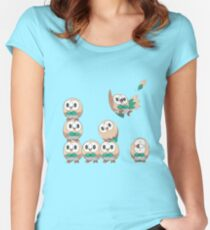 Rowlet Women's Fitted Scoop T-Shirt