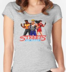 STREETS OF RAGE - AXEL-BLAZE-ADAM  Women's Fitted Scoop T-Shirt