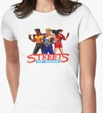 STREETS OF RAGE - AXEL-BLAZE-ADAM  Womens Fitted T-Shirt