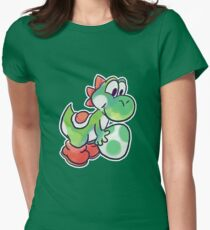 Yoshi holding an Egg Women's Fitted T-Shirt