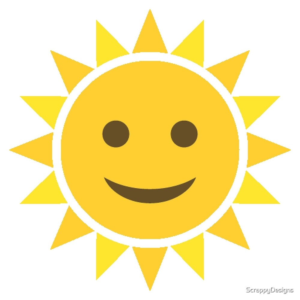 Quot Sun Emoji Quot By Scrappydesigns Redbubble