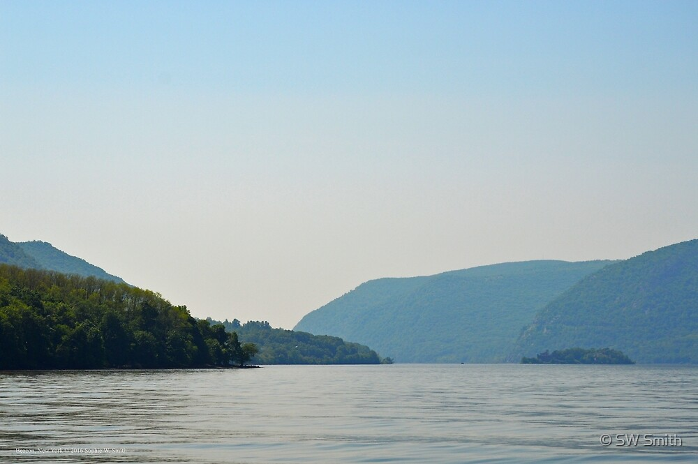 Hudson River With A View On Pollepel Island And Bannerman Castle | Beacon, New York by © Sophie W. Smith