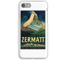 Vintage 1930's Travel Poster restored by me.  by George Pedro iPhone Case/Skin