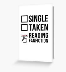 Fanfiction Reader - Relationship Status Greeting Card