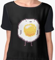 Standing Egg Pixel  Chiffon Top