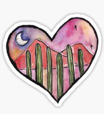 Cactus Sunset  Sticker