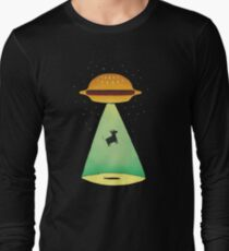Burger Abduction Long Sleeve T-Shirt