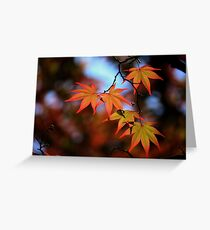 Leaf dance Greeting Card