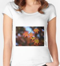 Leaf dance Fitted Scoop T-Shirt