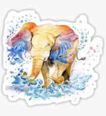 Baby Elephant Watercolor Sticker