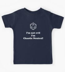 I'm not evil, I'm chaotic neutral! Kids Clothes