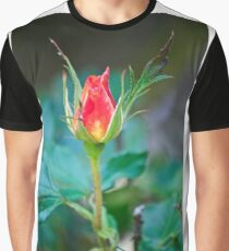 Single Red Bud Graphic T-Shirt