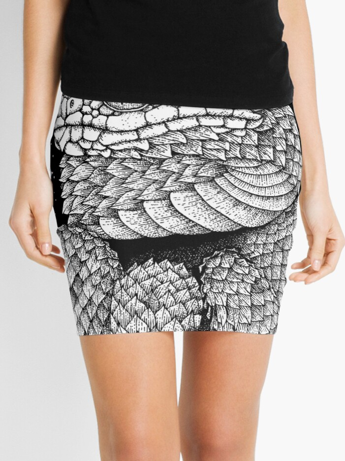 spiny bush viper red | Mini Skirt