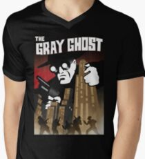 The Gray Ghost Mens V-Neck T-Shirt