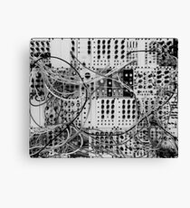Analog Synthesizer - Modular Design - black & white Canvas Print