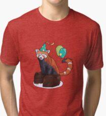 Red Panda Party Tri-blend T-Shirt