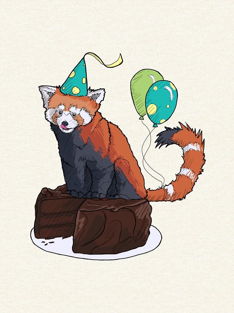 Red Panda Party by kalantix