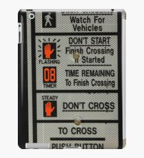 Crosswalk Instruction Sign iPad Case/Skin