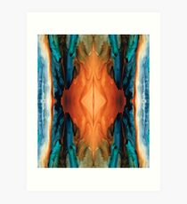 The Great Spirit - Abstract Art By Sharon Cummings Art Print