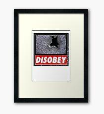 Disobey TV Framed Print