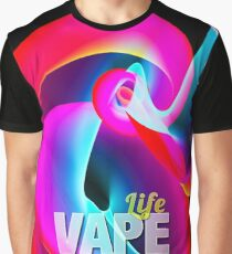 Florescent Abstract Smoke Vape  Graphic T-Shirt