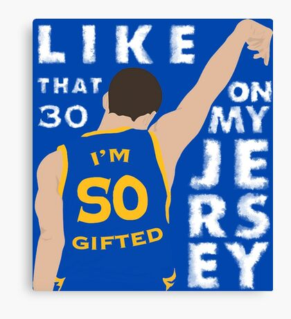 30 ON MY JERSEY Canvas Print