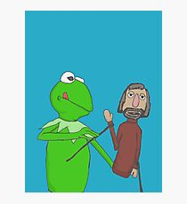 Henson and Kermit Photographic Print