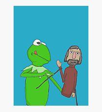 Henson and Kermit Photographic Print