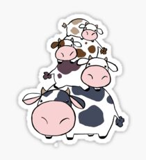 Cow Stack Sticker
