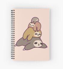 Sloth Stack Spiral Notebook