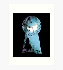 Alice - Through the Keyhole Art Print