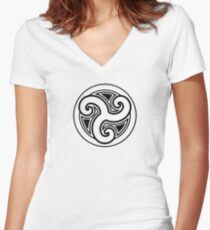 Morthal Women's Fitted V-Neck T-Shirt
