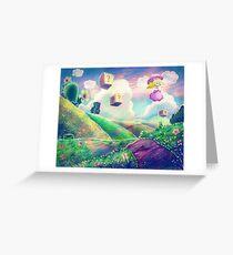 Princess Peach Landscape Greeting Card