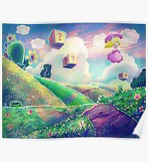 Princess Peach Landscape Poster