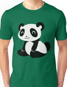 Happy Cartoon Panda Unisex T-Shirt
