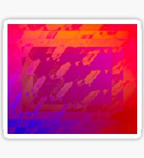 Fuchsia Abstract Sticker