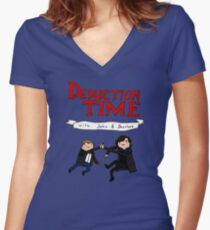Deduction Time Women's Fitted V-Neck T-Shirt