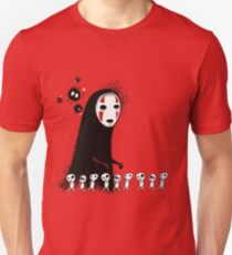 Studio Ghibli - The Spirits & Soot Sprites - Kodama - No Face - Susuwatari  T-Shirt