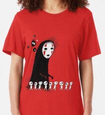 Studio Ghibli - The Spirits & Soot Sprites - Kodama - No Face - Susuwatari  Slim Fit T-Shirt