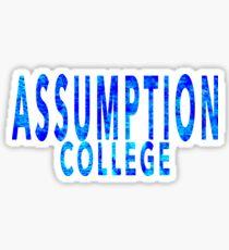 Assumption College Sticker
